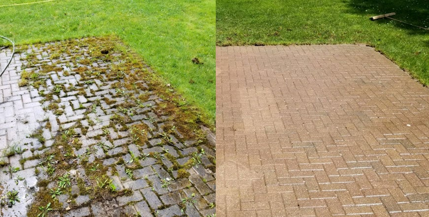 Paver Restoration Before and After